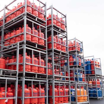 Illtal Industriegase Lagerung Außengelände