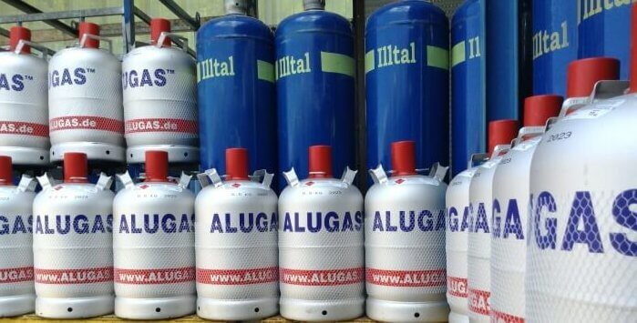 Alugas und Illtal Flaschengas